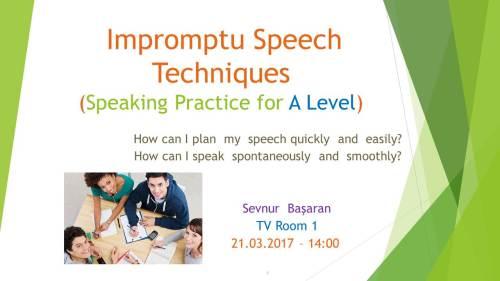 Impromptu Speech Techniques
